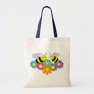 Bees & Flowers Tote Bag
