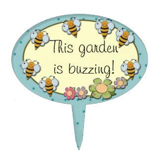 Bees garden marker or cake topper