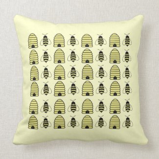 Bee's & Hives American MoJo Pillow throwpillow