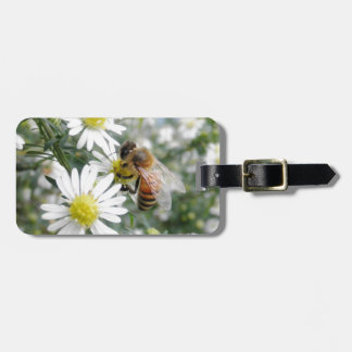 Bees Honey Bee Wildflowers Flowers Daisies Photo Luggage Tag
