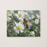 Bees Honey Bee Wildflowers Flowers Daisies Photo Puzzle