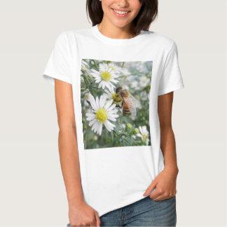 Bees Honey Bee Wildflowers Flowers Daisies Photo T-Shirt