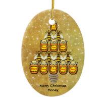 Bee's & Honey Jars Christmas Tree - Ornament