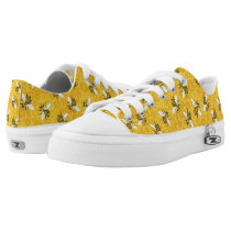 Bees Honeycomb Honeybee Beehive Pattern Low-Top Sneakers