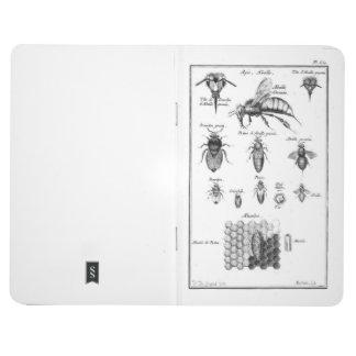 Bees & Honeycomb Vintage Print Pocket Notebook