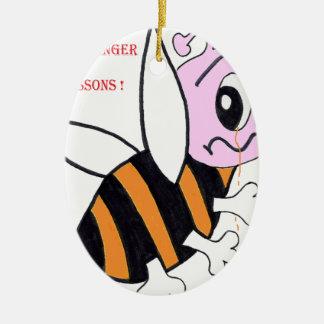BEES IN DANGER.png Ceramic Ornament