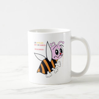 BEES IN DANGER.png Coffee Mug