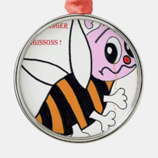 BEES IN DANGER.png Metal Ornament