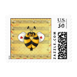 Bees In Love US Postage Stamps