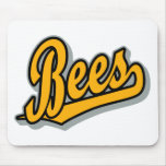 Bees in Orange Black and Gray Mouse Pads