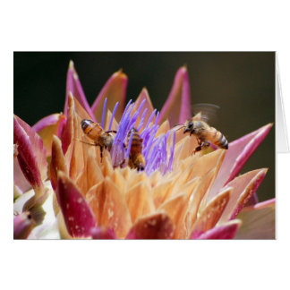 bees in the artichoke card