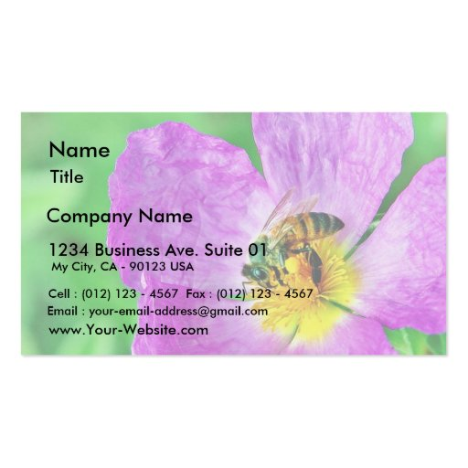 Bees Insects Pollen Business Card Templates