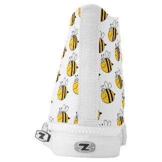 Bee's Knee's, Bee Print High Tops Printed Shoes
