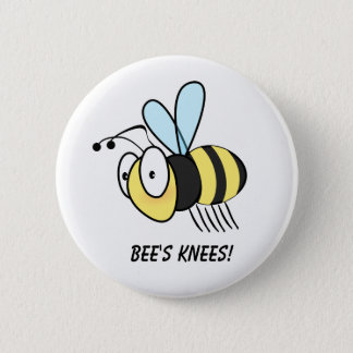 Bee's Knees! Button Badge