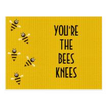bees knees postcard