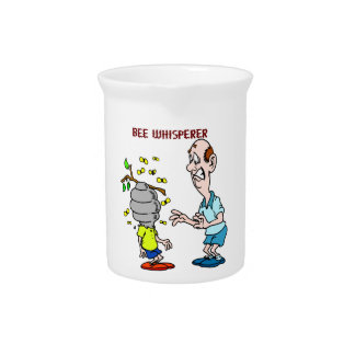 Bees Lovers Bee Whisperer Bumblebee Beverage Pitcher