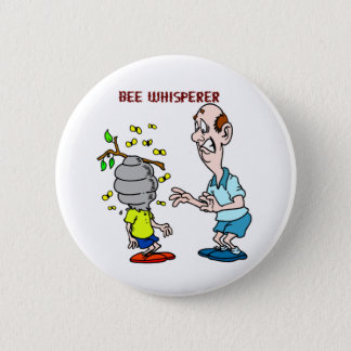 Bees Lovers Bee Whisperer Bumblebee Button