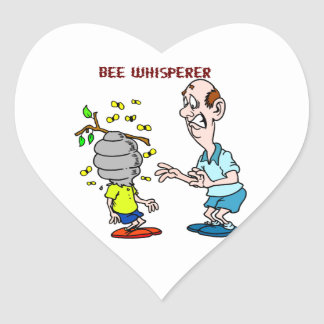 Bees Lovers Bee Whisperer Bumblebee Heart Sticker