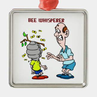 Bees Lovers Bee Whisperer Bumblebee Metal Ornament