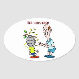 Bees Lovers Bee Whisperer Bumblebee Oval Sticker
