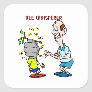 Bees Lovers Bee Whisperer Bumblebee Square Sticker