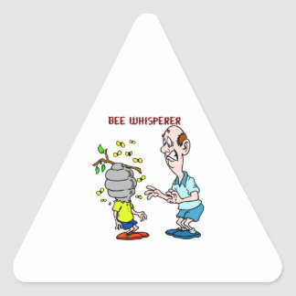 Bees Lovers Bee Whisperer Bumblebee Triangle Sticker