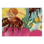 bees make honey greeting cards