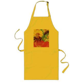 bees make honey long apron