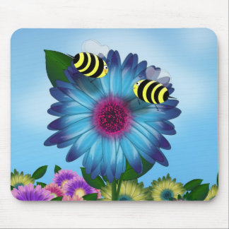 Bees Meeting in the Garden Mouse Pads