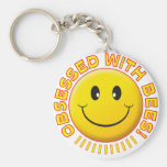 Bees Obsessed Smile Keychains