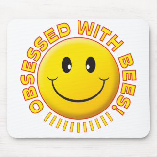 Bees Obsessed Smile Mouse Pad