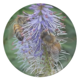 BEE'S  ON  A  FLOWER  PLATE