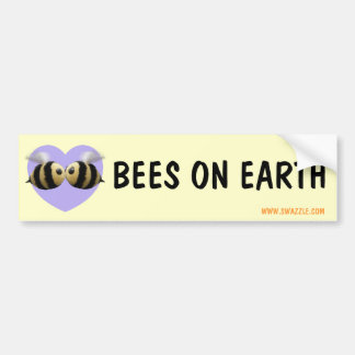 Bees on Earth Bumper Sticker