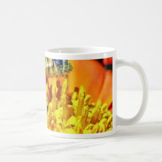Bees On Flowers Collecting Pollen Coffee Mugs