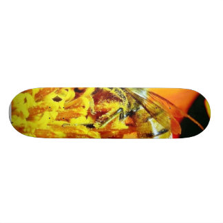 Bees On Flowers Collecting Pollen Skateboards
