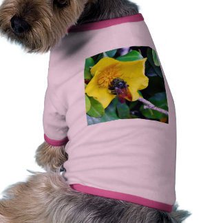 Bees On Yellow Flowers Pollen Pet Tshirt