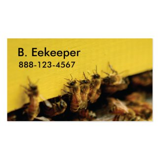 bees on yellow hive business cards