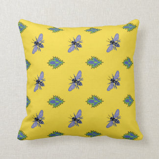 Bees on yellow pillow from the French countryside.