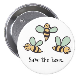 Bees Pinback Button