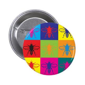 Bees Pop Art Pinback Button