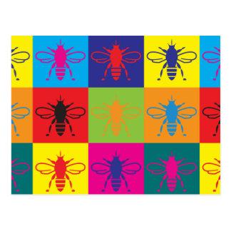 Bees Pop Art Postcard