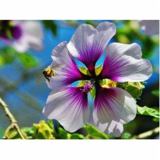 Bees Purple Flowers Photo Sculpture
