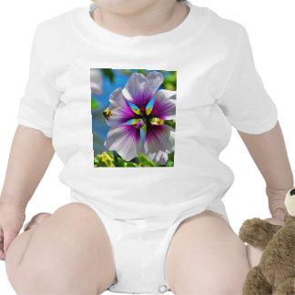 Bees Purple Flowers Romper