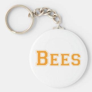 Bees square logo in orange keychain