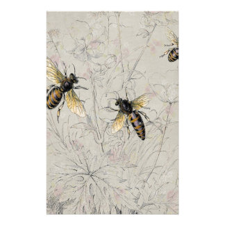 Bees Stationery