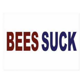 Bees Suck Postcard