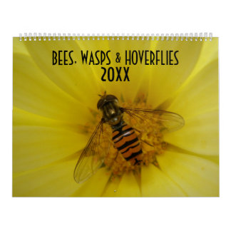 Bees Wasps and Hoverflies Custom Calendar