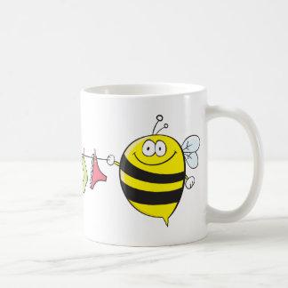 Bees with clothesline MUG