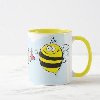 Bees with clothesline MUG 2