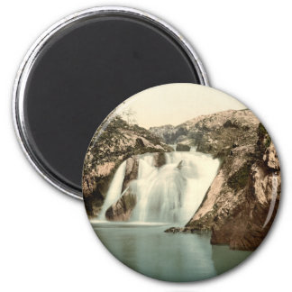 Beesley Falls, Ingleton, Yorkshire, England 2 Inch Round Magnet